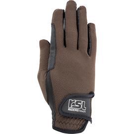 Jezdecké rukavice USG Malibu, hnědo-černé - vel. L