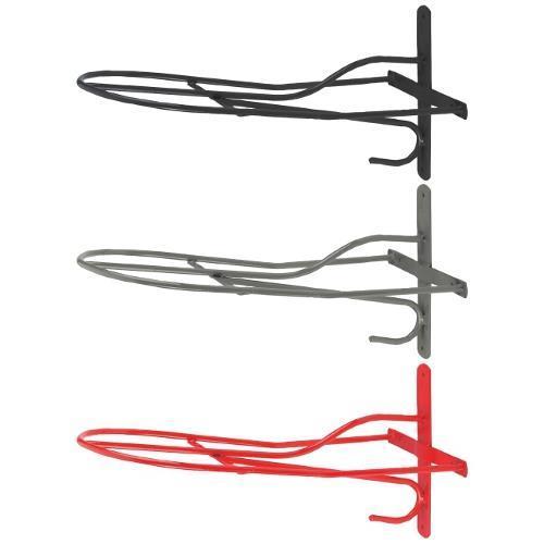 Kovový držák na sedlo s háčkem - Práškový lak šedý Držák na sedlo s háčkem, pevný, šedý