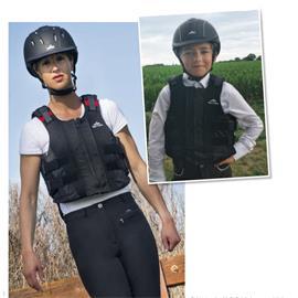 Dětská bezpečnostní vesta Equi-Theme Zip, černá - vel. S