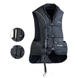 Airbagová vesta EQUI-THEME Air, černá - dětská, vel. L ( dospělá XS)