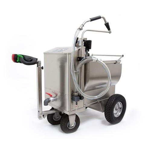 Vozík na mléko pro telata MilkBuggy 200 l nerez, pojezd, topení, mixer, dávkování Vozík na mléko pro telata MilkBuggy 200 l nerez, pojezd, topení, mixer, dávkování