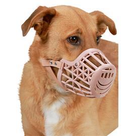 Plastový náhubek pro psy, béžový