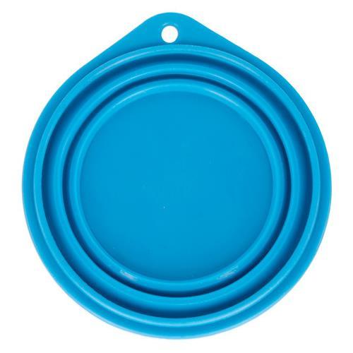 Cestovní silikonová miska pro psy, modrá, 250 ml Cestovní silikonová miska pro psy, modrá, 250 ml