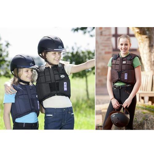 Jezdecká bezpečnostní vesta USG FLEXI - dětská, černá, vel. XS Jezdecká bezpečnostní vesta USG FLEXI