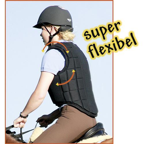 Jezdecká bezpečnostní vesta USG FLEXI - dětská, černá, vel. XS Vesta dětská bezp. USG, FLEXI, černá, vel. XS
