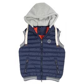 Zimní jezdecká vesta Pfiff s kapucí, modrá