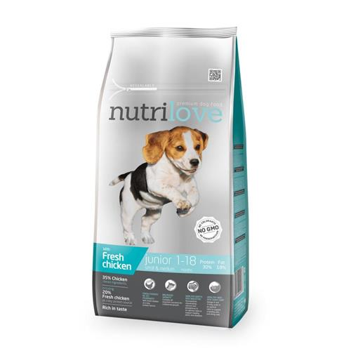 Granule Nutrilove pes, Junior S+M, 1,6 kg Granule Naturlove pes, Junior S+M, 1,6 kg