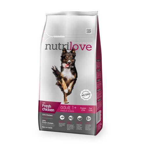 Granule pro psy Nutrilove, Adult M, 8 kg Granule Nutrilove pes, Adult M, 8 kg