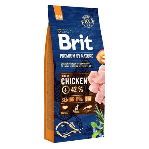 Brit Premium by Nature Senior S+M - 8 kg Granule Brit pes by Nature, Senior S+M, 8 kg