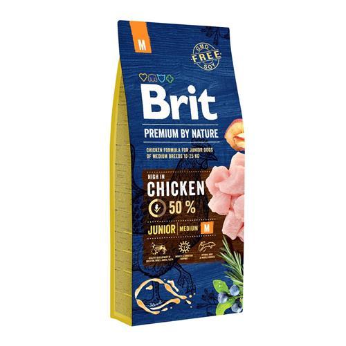 Brit Premium by Nature Junior M - 15 kg Granule Brit pes by Nature, Junior M, 15 kg