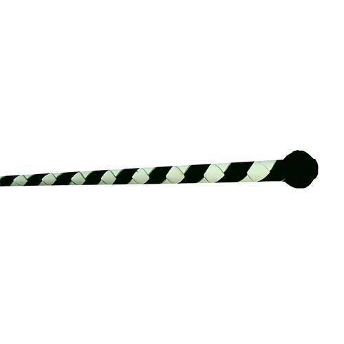 Kožený bič Small Paul, pletený, bez poutka, - bílo-černý, 75 cm Bič kožený, ručně šitý, černo-bílý, bez poutka, 75 cm