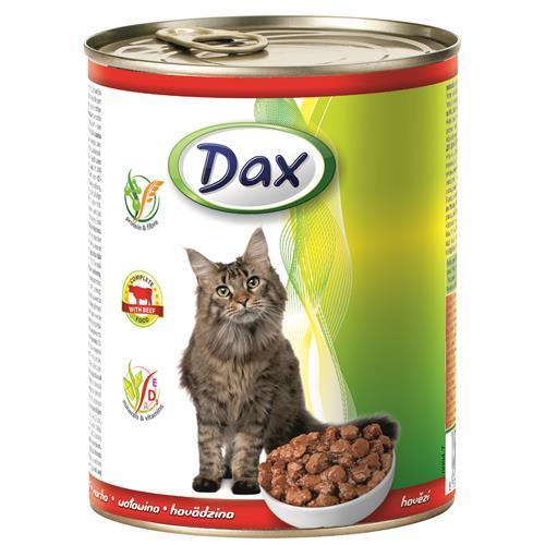 Konzerva pro kočky DAX, kousky hovězí - 830 g Konzerva pro kočky DAX, kousky hovězí, 830 g