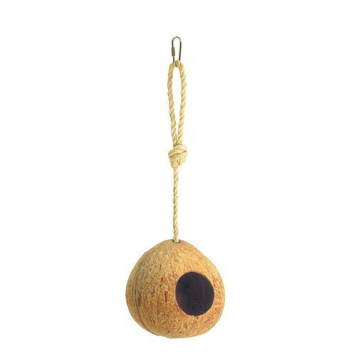 Hnízdo pro andulky, kokos, 12 cm Hnízdo - kokos pro andulky, pr. 12 cm