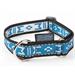 Obojek pro psy MANMAT Standard, reflexní modro - šedá, 30 - 55 cm