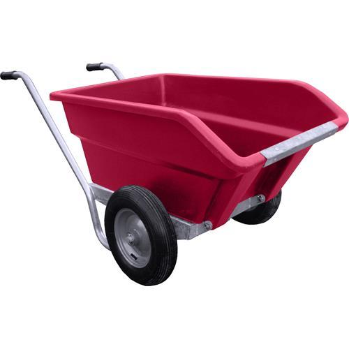 Dvoukolové výklopné zahradní kolečko na hnůj - 255 l - růžová Dvoukolové výklopné zahradní kolečko na hnůj JFC, 255 l/200 kg, růžový