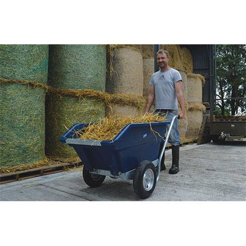 Dvoukolové výklopné zahradní kolečko na hnůj - 255 l - lila Dvoukolové výklopné zahradní kolečko na hnůj JFC, 255 l/200 kg, lila
