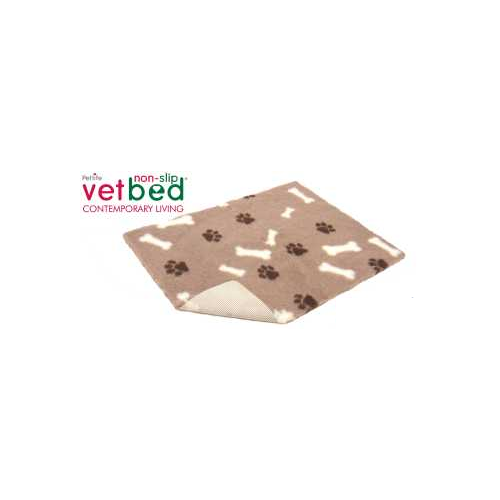 Podložka Vetbed, 2000 g, vlas 30 mm, 75 x 50 cm - Hnědá kosti Deka Drybed, hnědá kosti, 75 x 50 cm