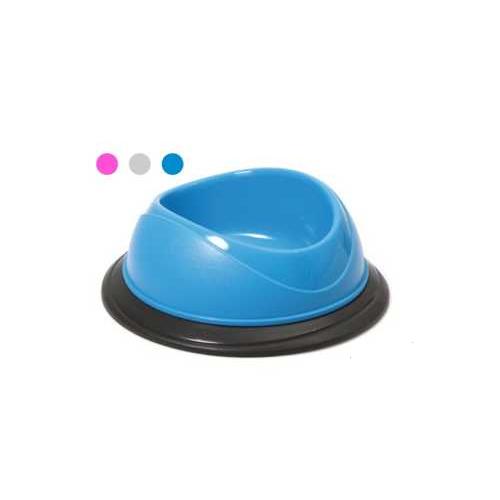 Plastová miska s protiskluzovou gumou, mix barev, průměr 23 cm Plastová miska s protiskluzovou gumou, mix barev, průměr 23 cm