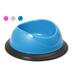 Plastová miska s protiskluzovou gumou, mix barev, průměr 23 cm
