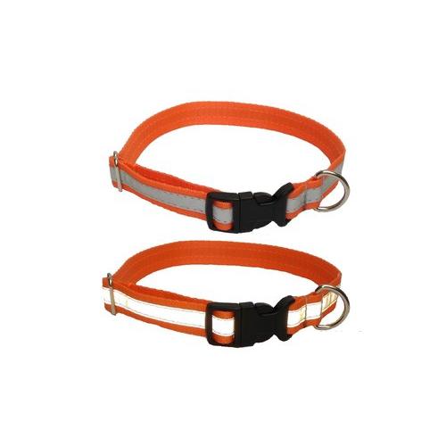Obojek pro psy s reflexním pruhem, mix barev, 32 - 55 cm Obojek pro psy s reflexním pruhem, mix barev, 32 - 55 cm