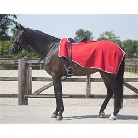 Bederní fleecová deka QHP - červená, vel.  M