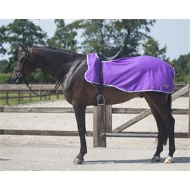 Bederní fleecová deka QHP - fialová, vel. XL