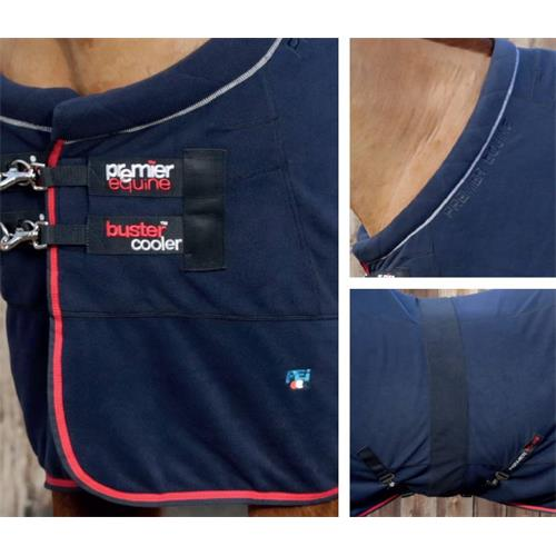 Odpocovací deka Premier Equine Prestige, modrá - vel. 135 cm Deka Premier Equine Prestige modrá, vel. 135 cm