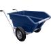 Dvoukolové výklopné zahradní kolečko na hnůj - 255 l - modrá