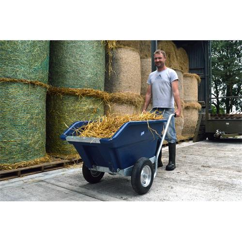 Dvoukolové výklopné zahradní kolečko na hnůj - 255 l - modrá Dvoukolové výklopné zahradní kolečko na hnůj JFC, 255 l/200 kg, modrý