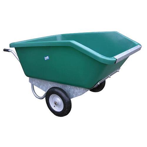 Dvoukolové výklopné zahradní kolečko na hnůj - 400 l - zelená Dvoukolové výklopné zahradní kolečko na hnůj, 400 l/200kg, zelené