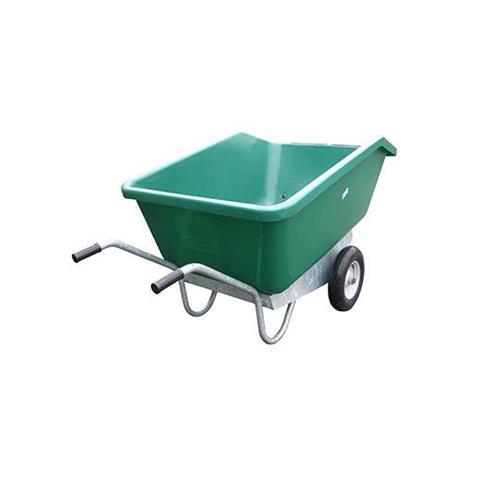 Dvoukolové výklopné zahradní kolečko na hnůj - 500 l - zelená Dvoukolové výklopné zahradní kolečko na hnůj, 500 l/500kg, zelené