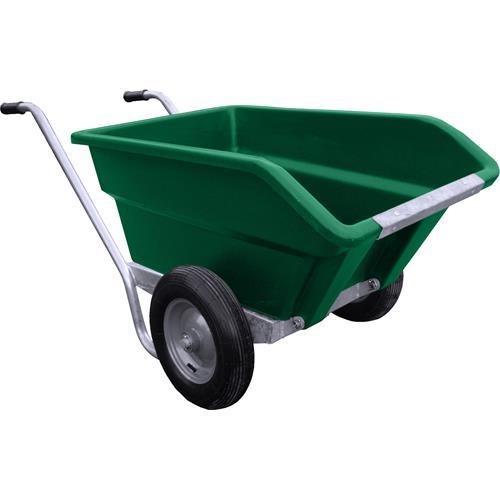 Dvoukolové výklopné zahradní kolečko na hnůj - 255 l - zelený Dvoukolové výklopné zahradní kolečko na hnůj JFC, 255 l/200 kg, zelený
