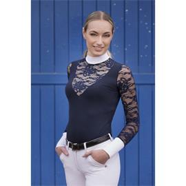 Závodní dámská košile Equi-Theme s krajkou, modrá - vel. M