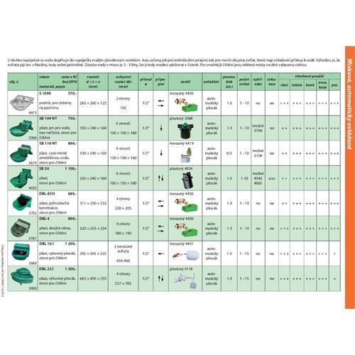 Plovákový ventil vysokotlaký pro napáječku DBL 4 a DBL-ECO(bílý plovák) 1/2