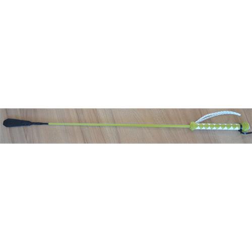 Kožený bič Small Paul, ručně šitý, hladký - zeleno-bílý, 75 cm Bič Small Paul hladký, zeleno-bílý, 75 cm
