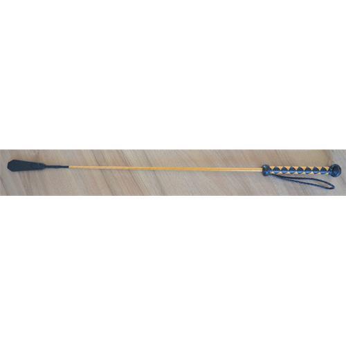 Kožený bič Small Paul, ručně šitý, hladký - žluto-černý, 75 cm Bič Small Paul hladký, žluto-černý, 75 cm