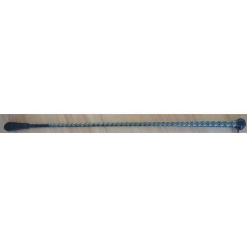 Kožený bič Small Paul, pletený, bez poutka, - černo-olivový, 75 cm Bič Small Paul pletený černo-oliv,bez poutka,75 cm