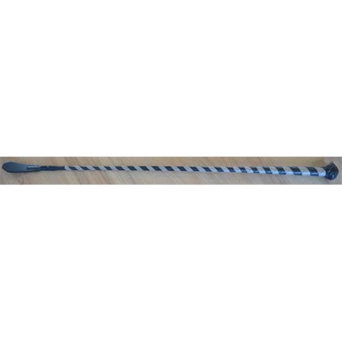 Kožený bič Small Paul, pletený, bez poutka, - šedo-černý, 75 cm Bič Small Paul pletený šedo-čer., bez poutka,75 cm