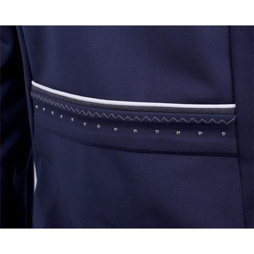 Jezdecké sako QHP Layla, modré/černé - tmavě modré, vel. 36 Sako jezdecké QHP Layla, tm. modré