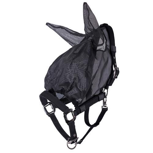 Maska-ohlávka proti hmyzu QHP, combi, černá - vel. Pony Maska proti hmyzu QHP combi, černá, vel. Pony