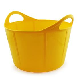 Plastový kbelík GEWA FLEXI 17 l, žlutý, modrý