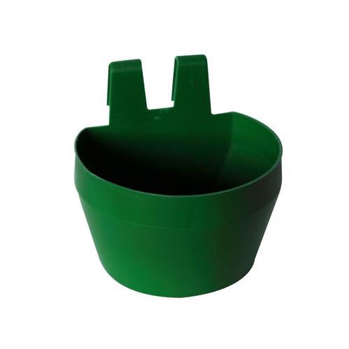 Plastová závěsná miska na klec, 300 ml, 2 ks v balení - zelená Plastová miska závěsná na klec, zelená, 300 ml, 2 ks v balení