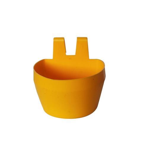 Plastová závěsná miska na klec, 300 ml, 2 ks v balení - žlutá Plastová miska závěsná na klec, žlutá, 300 ml, 2 ks v balení