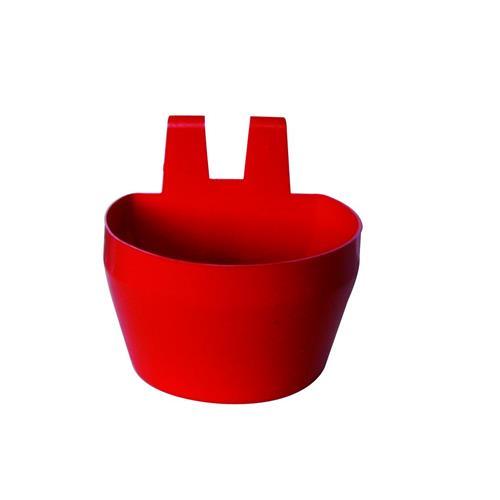 Plastová závěsná miska na klec, 300 ml, 2 ks v balení - červená Plastová miska závěsná na klec, červená, 300 ml, 2 ks v balení