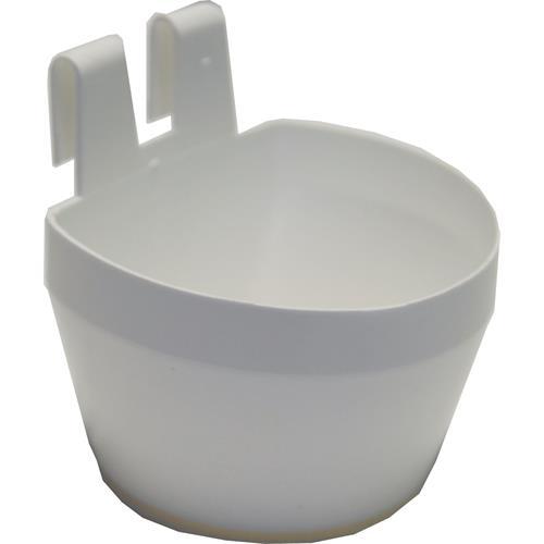 Plastová závěsná miska na klec, 300 ml, 2 ks v balení - bílá Plastová miska závěsná na klec, bílá, 300 ml, 2 ks v balení