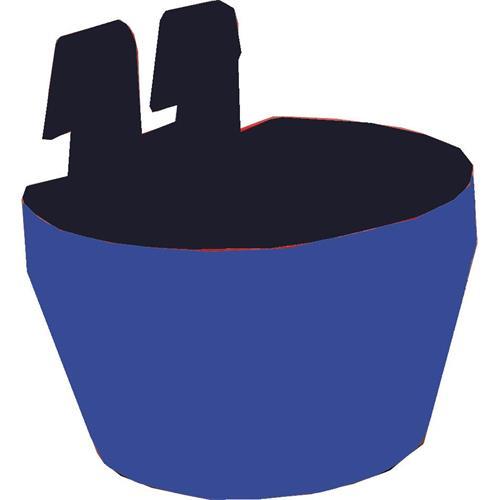 Plastová závěsná miska na klec, 300 ml, 2 ks v balení - modrá Plastová miska závěsná na klec, modrá, 300 ml, 2 ks v balení