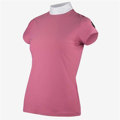 Dámské závodní triko Horze Mirielle - malinové, vel. 40 Triko dámské Horze Mirielle, malinové, vel. 40