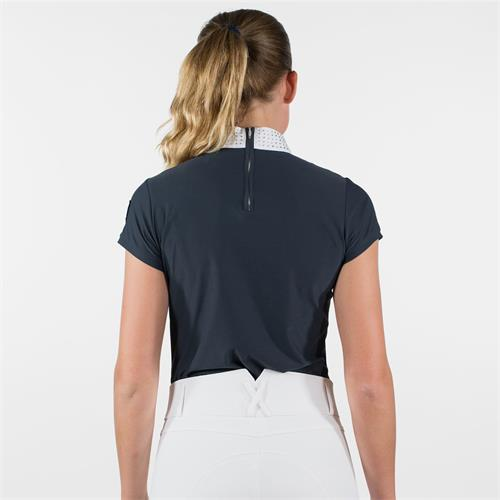 Dámské závodní triko Horze Mirielle - modro-černé, vel. 44 Triko dámské Horze Mirielle, modro-černé, vel. 44
