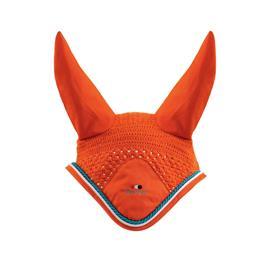 Čabraka na uši Premier Equine - oranžová, vel.full