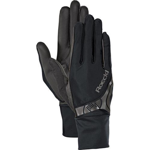 Jezdecké rukavice Roeckl Melbourne, černé - vel. 8,5 Rukavice Roeckl Melbourne, černé, vel. 8,5